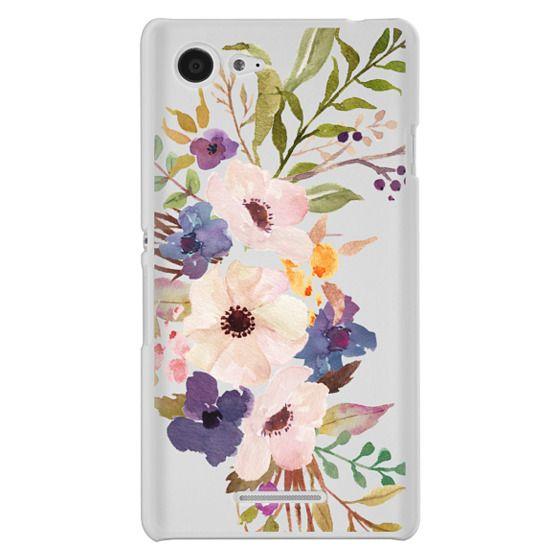 Sony E3 Cases - Watercolour Floral Bouquet 2 - Transparent