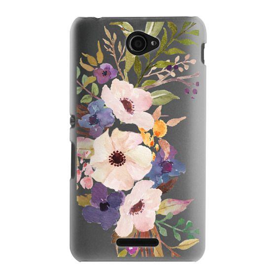 Sony E4 Cases - Watercolour Floral Bouquet 2 - Transparent