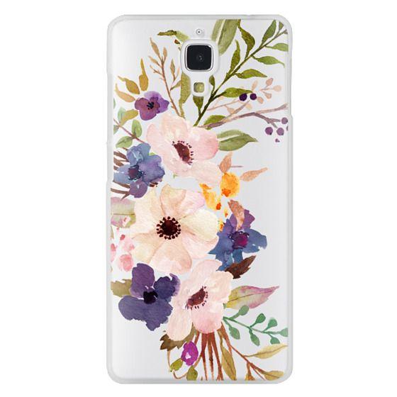 Xiaomi 4 Cases - Watercolour Floral Bouquet 2 - Transparent