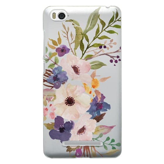 Xiaomi 4i Cases - Watercolour Floral Bouquet 2 - Transparent