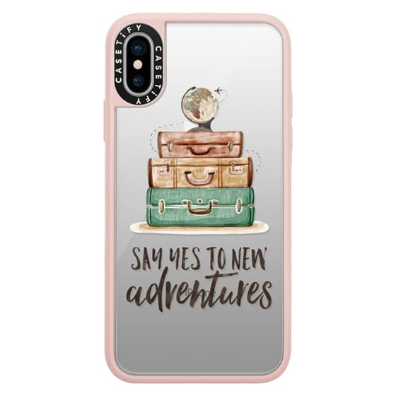 iPhone X Cases - Watercolour Travel World Globe - Say Yes to New Adventures