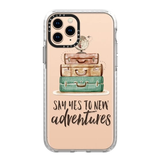 iPhone 11 Pro Cases - Watercolour Travel World Globe - Say Yes to New Adventures