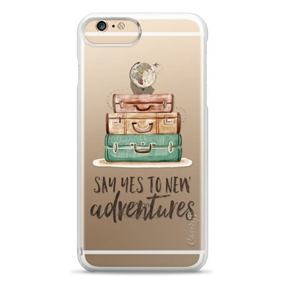 iPhone 6 Plus Cases - Watercolour Travel World Globe - Say Yes to New Adventures