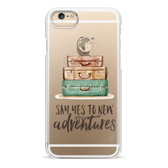 iPhone 6s Cases - Watercolour Travel World Globe - Say Yes to New Adventures
