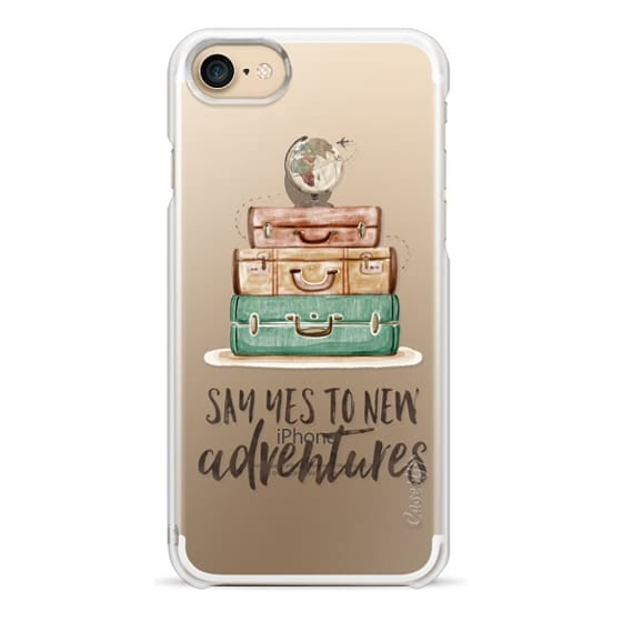 iPhone 7 Cases - Watercolour Travel World Globe - Say Yes to New Adventures