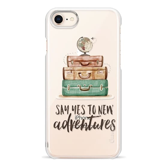 iPhone 8 Cases - Watercolour Travel World Globe - Say Yes to New Adventures