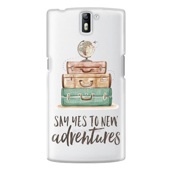 One Plus One Cases - Watercolour Travel World Globe - Say Yes to New Adventures