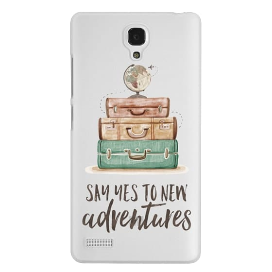 Redmi Note Cases - Watercolour Travel World Globe - Say Yes to New Adventures
