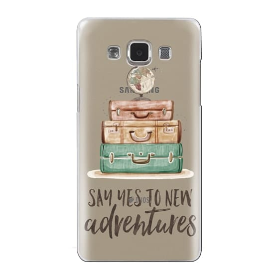 Samsung Galaxy A5 Cases - Watercolour Travel World Globe - Say Yes to New Adventures