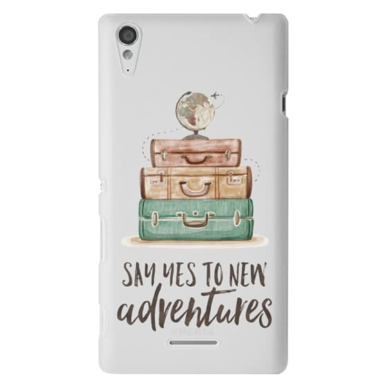 Sony T3 Cases - Watercolour Travel World Globe - Say Yes to New Adventures