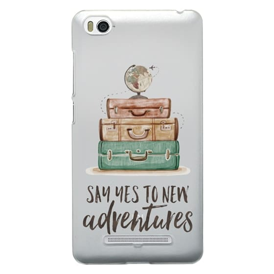 Xiaomi 4i Cases - Watercolour Travel World Globe - Say Yes to New Adventures