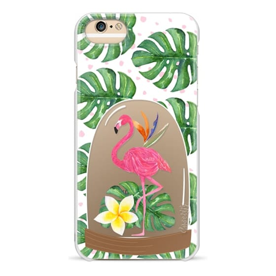 iPhone 6 Cases - Watercolor Flamingo Tropical Snowglobe