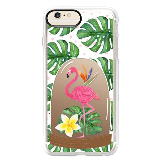 iPhone 6s Plus Cases - Watercolor Flamingo Tropical Snowglobe