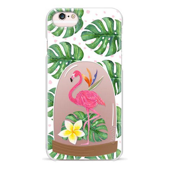 iPhone 6s Cases - Watercolor Flamingo Tropical Snowglobe