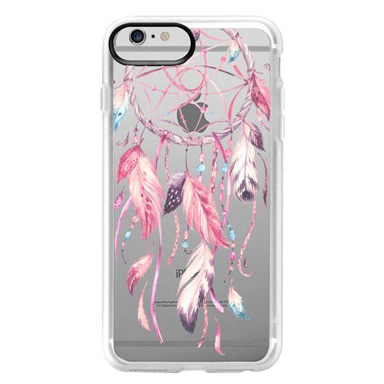 iPhone 6 Plus Cases - Watercolor Pink Dreamcatcher Feather Dream Catcher