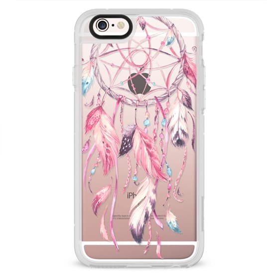 iPhone 4 Cases - Watercolor Pink Dreamcatcher Feather Dream Catcher