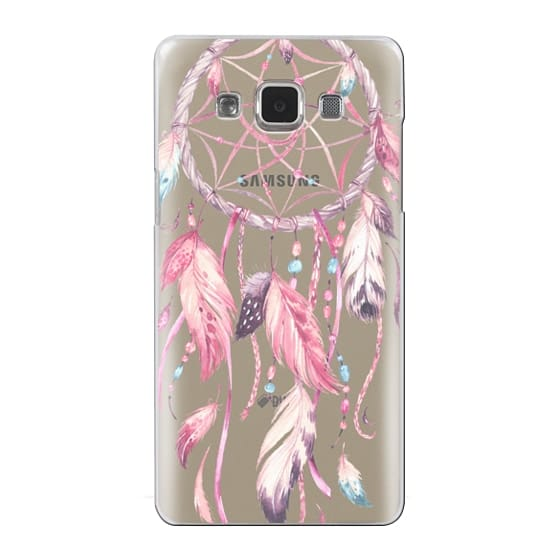 Samsung Galaxy A5 Cases - Watercolor Pink Dreamcatcher Feather Dream Catcher