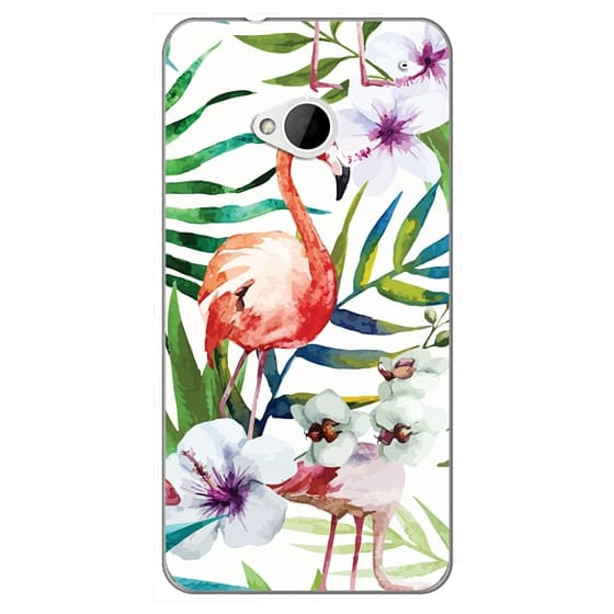 Htc One Cases - Tropical Flamingo
