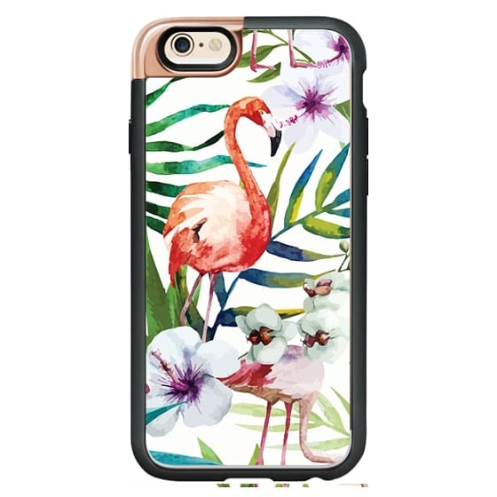 iPhone 4 Cases - Tropical Flamingo
