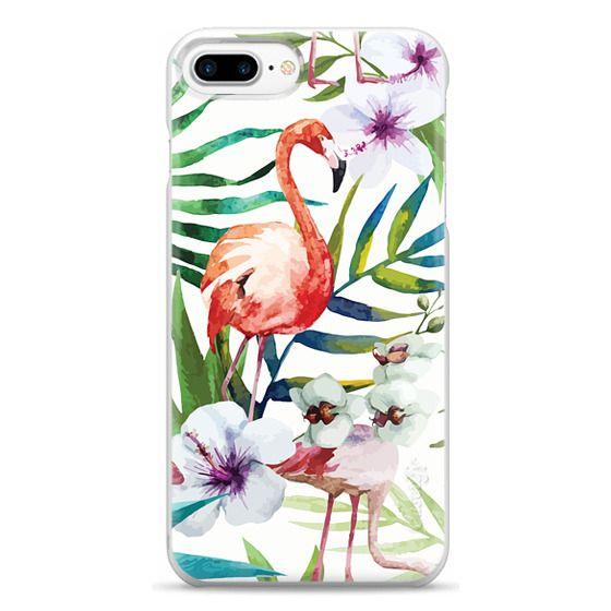 iPhone 7 Plus Cases - Tropical Flamingo
