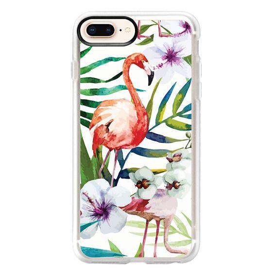 iPhone 8 Plus Cases - Tropical Flamingo