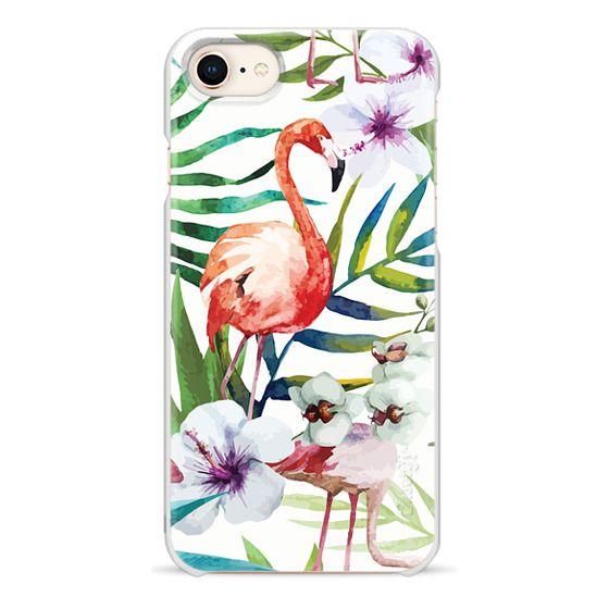 iPhone 8 Cases - Tropical Flamingo