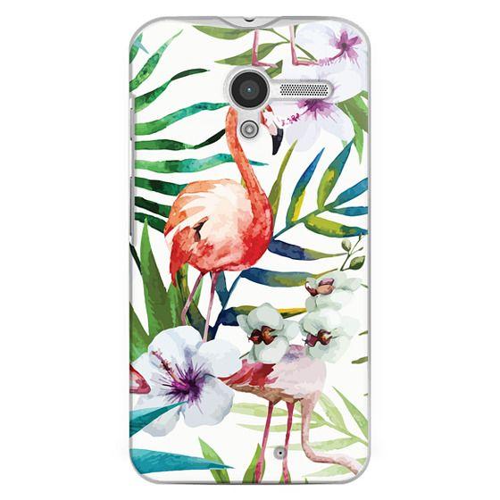 Moto X Cases - Tropical Flamingo