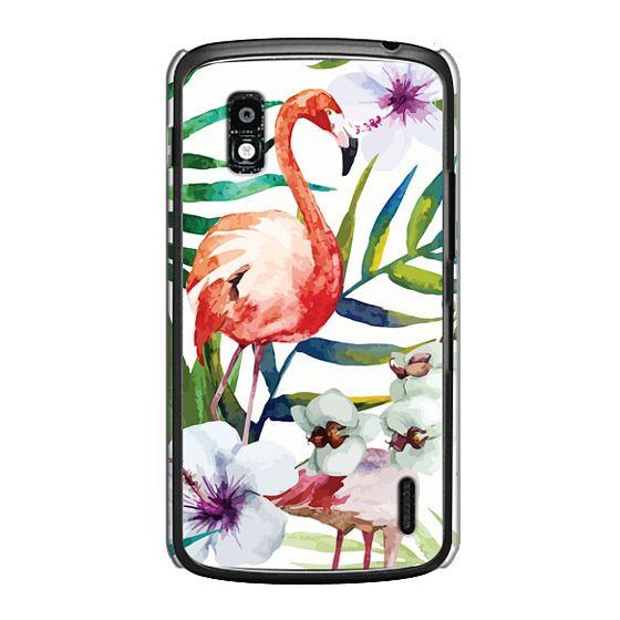 Nexus 4 Cases - Tropical Flamingo
