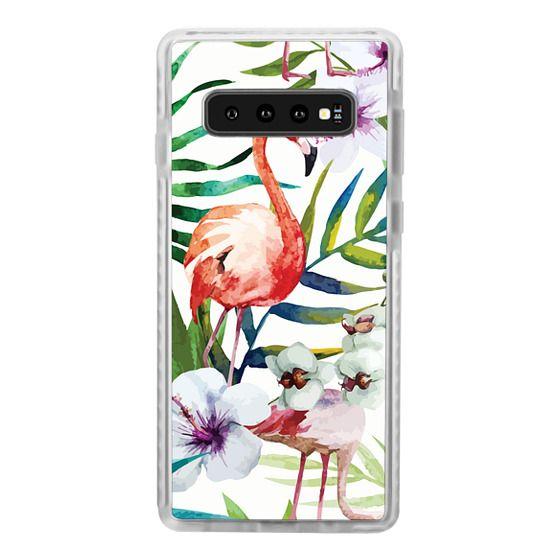 Samsung Galaxy S10 Cases - Tropical Flamingo