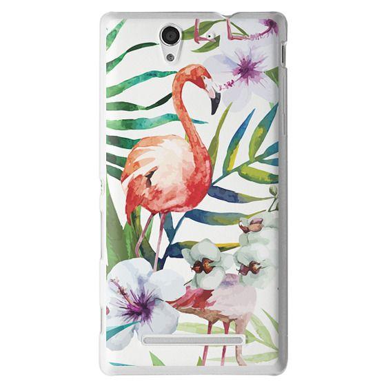 Sony C3 Cases - Tropical Flamingo