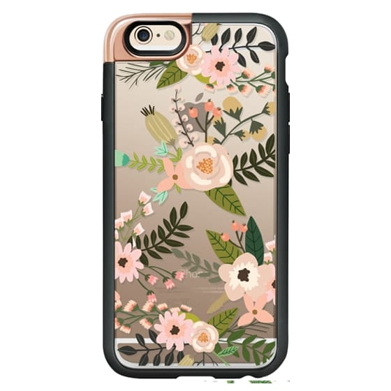 iPhone 6 Cases - Peachy Pink Florals - Trasparent