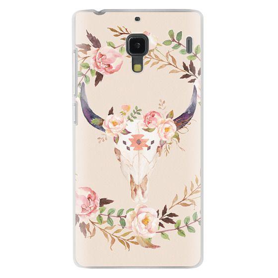 Redmi 1s Cases - Watercolour Floral Bull Skull