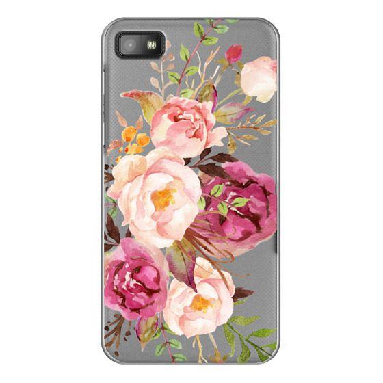 Blackberry Z10 Cases - Watercolour Floral Bouquet - Transparent