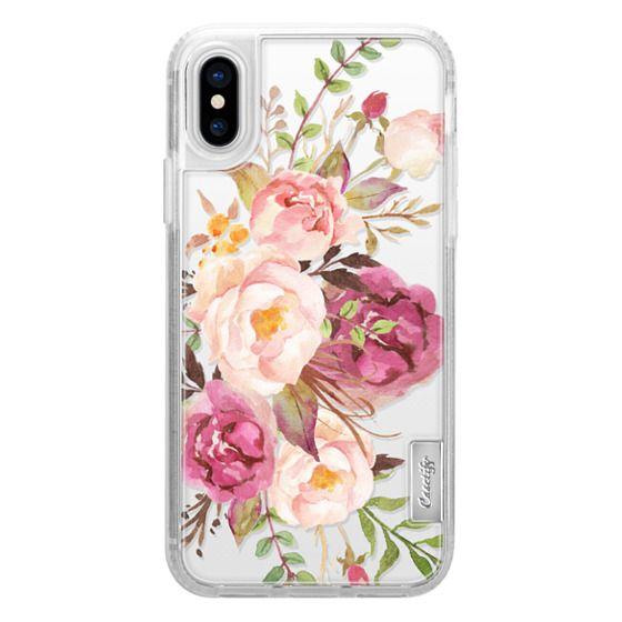 iPhone X Cases - Watercolour Floral Bouquet - Transparent