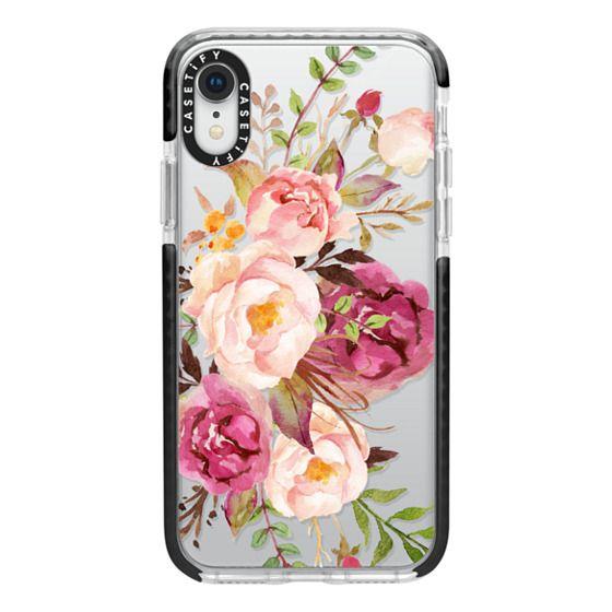 iPhone XR Cases - Watercolour Floral Bouquet - Transparent