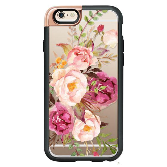 iPhone 6 Cases - Watercolour Floral Bouquet - Transparent