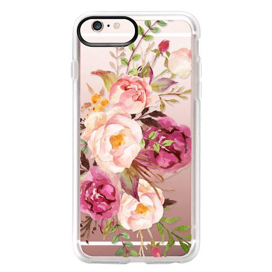 iPhone 6s Plus Cases - Watercolour Floral Bouquet - Transparent