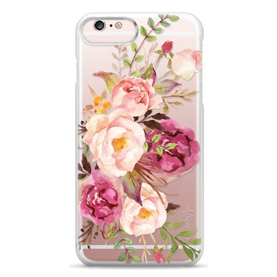 iPhone 6s Plus Cases - Watercolour Floral Bouquet - Transparent
