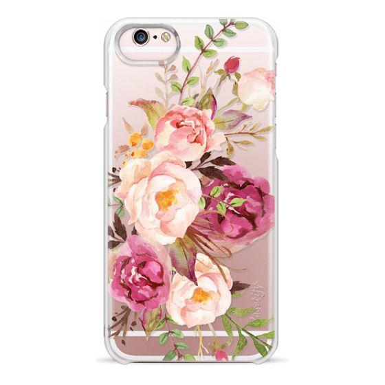 iPhone 6s Cases - Watercolour Floral Bouquet - Transparent