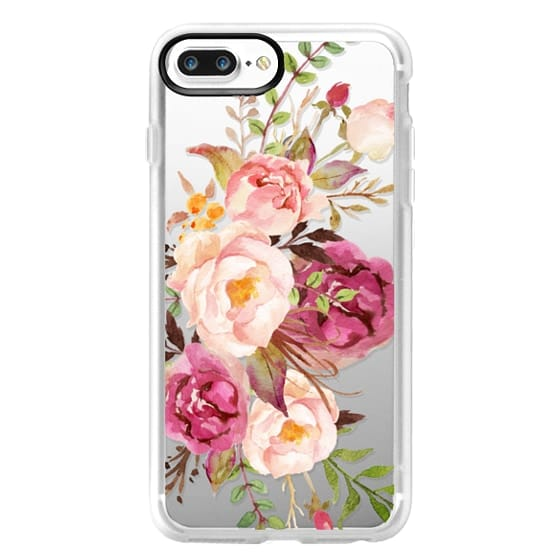 iPhone 7 Plus Cases - Watercolour Floral Bouquet - Transparent