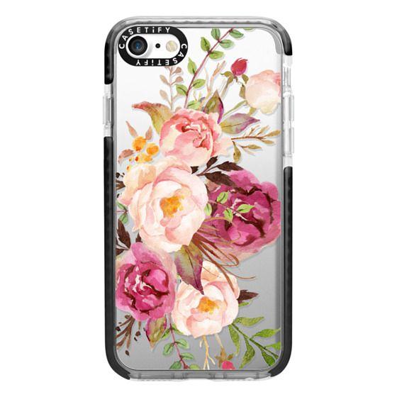 iPhone 7 Cases - Watercolour Floral Bouquet - Transparent