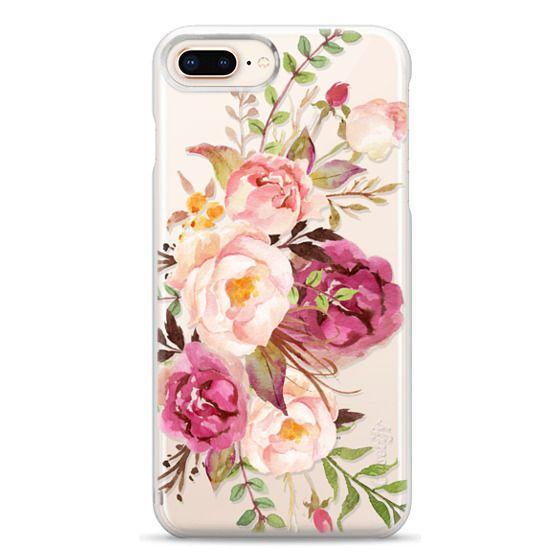 iPhone 8 Plus Cases - Watercolour Floral Bouquet - Transparent