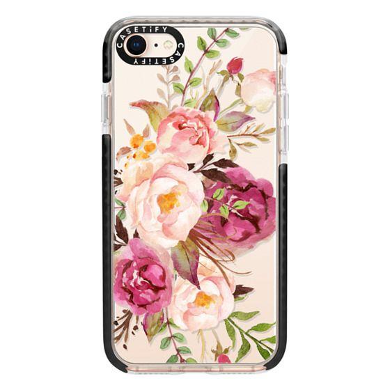 iPhone 8 Cases - Watercolour Floral Bouquet - Transparent