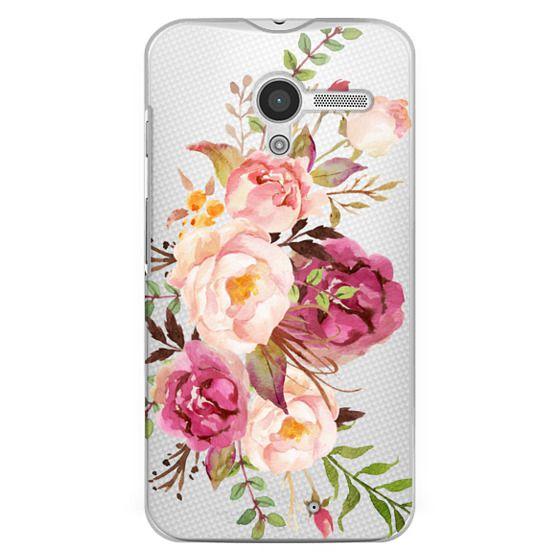 Moto X Cases - Watercolour Floral Bouquet - Transparent