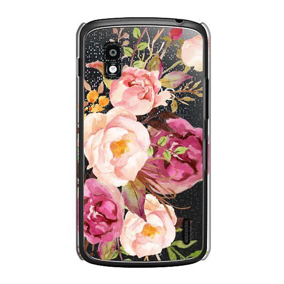 Nexus 4 Cases - Watercolour Floral Bouquet - Transparent