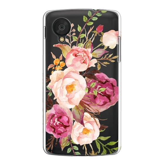 Nexus 5 Cases - Watercolour Floral Bouquet - Transparent
