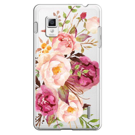 Optimus G Cases - Watercolour Floral Bouquet - Transparent