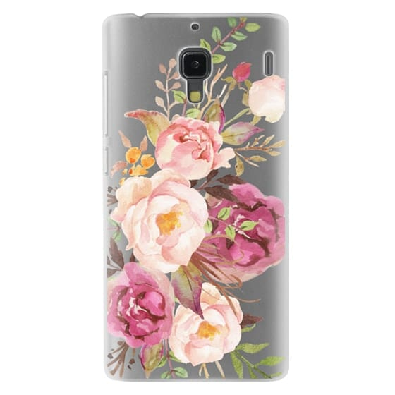 Redmi 1s Cases - Watercolour Floral Bouquet - Transparent