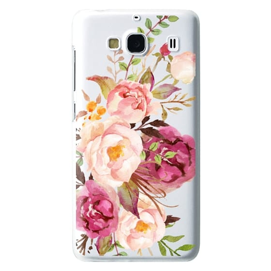 Redmi 2 Cases - Watercolour Floral Bouquet - Transparent