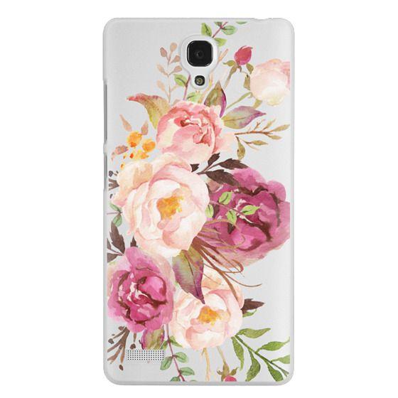 Redmi Note Cases - Watercolour Floral Bouquet - Transparent
